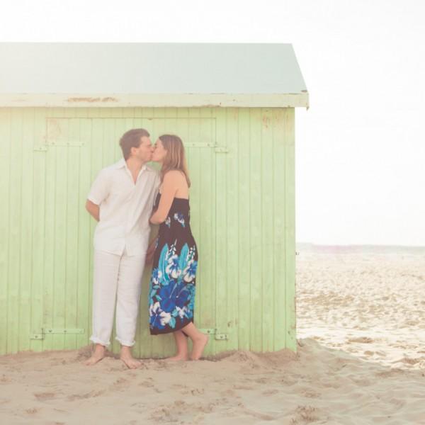 Séance photo engagement à la plage : Sandie et Slava