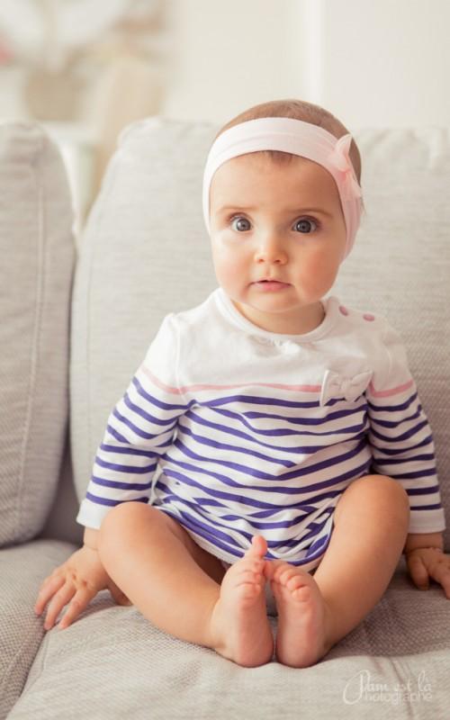 Séance photo bébé à domicile : Louise 1 an
