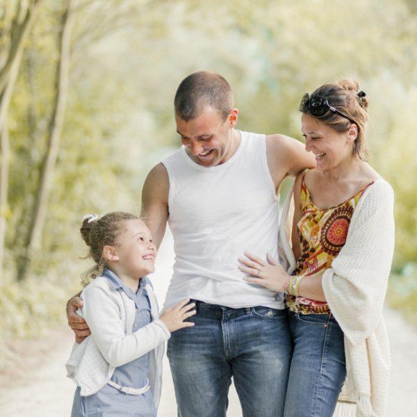 Séance photo famille en extérieur