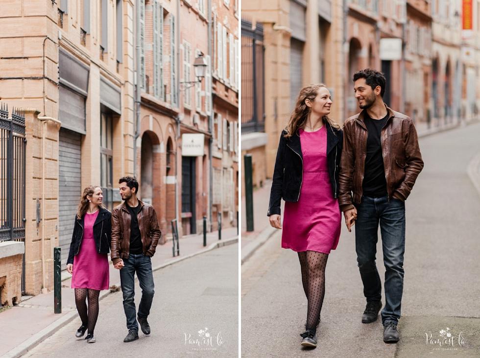 séance photo dans les rues de Toulouse