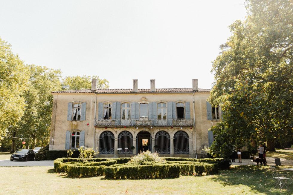 Vue du Château de la Rode a Lampaut en Haute-Garonne