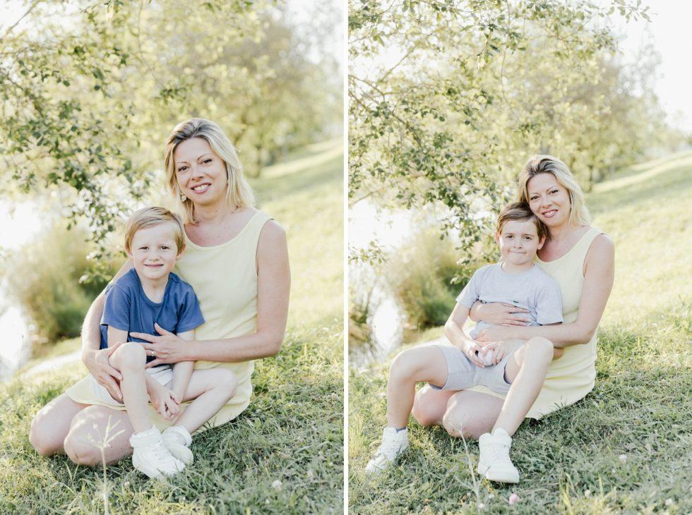 Photos maman et fils autour du Lac de Flourens