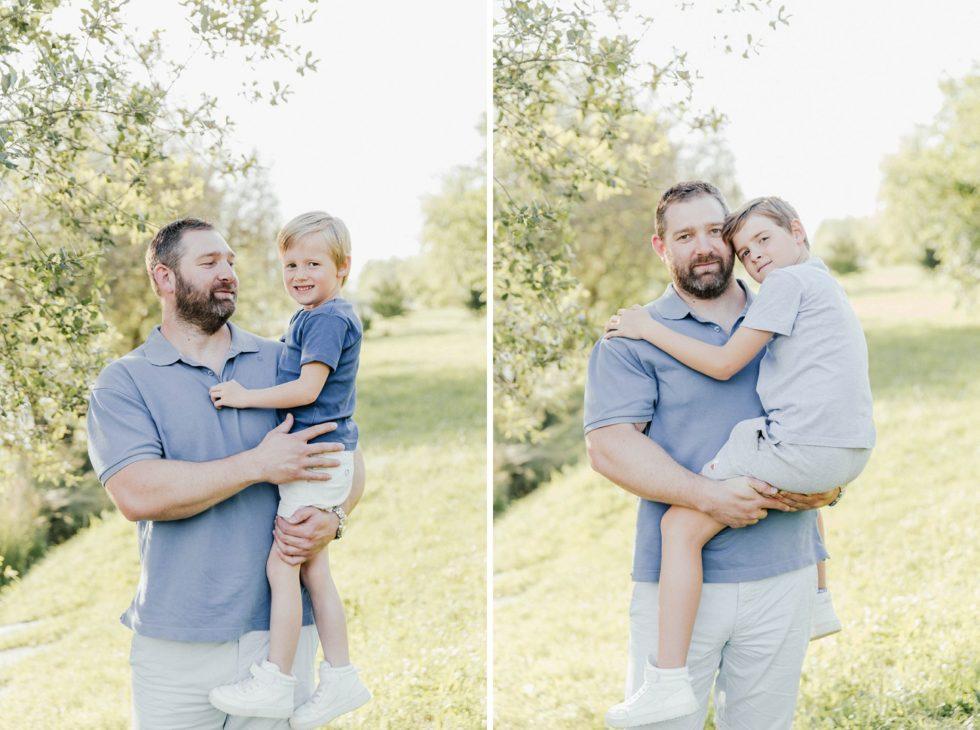 Photos papa et fils autour du Lac de Flourens