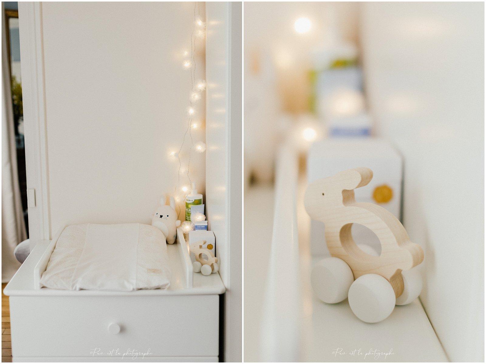 Détails de la chambre de bébé