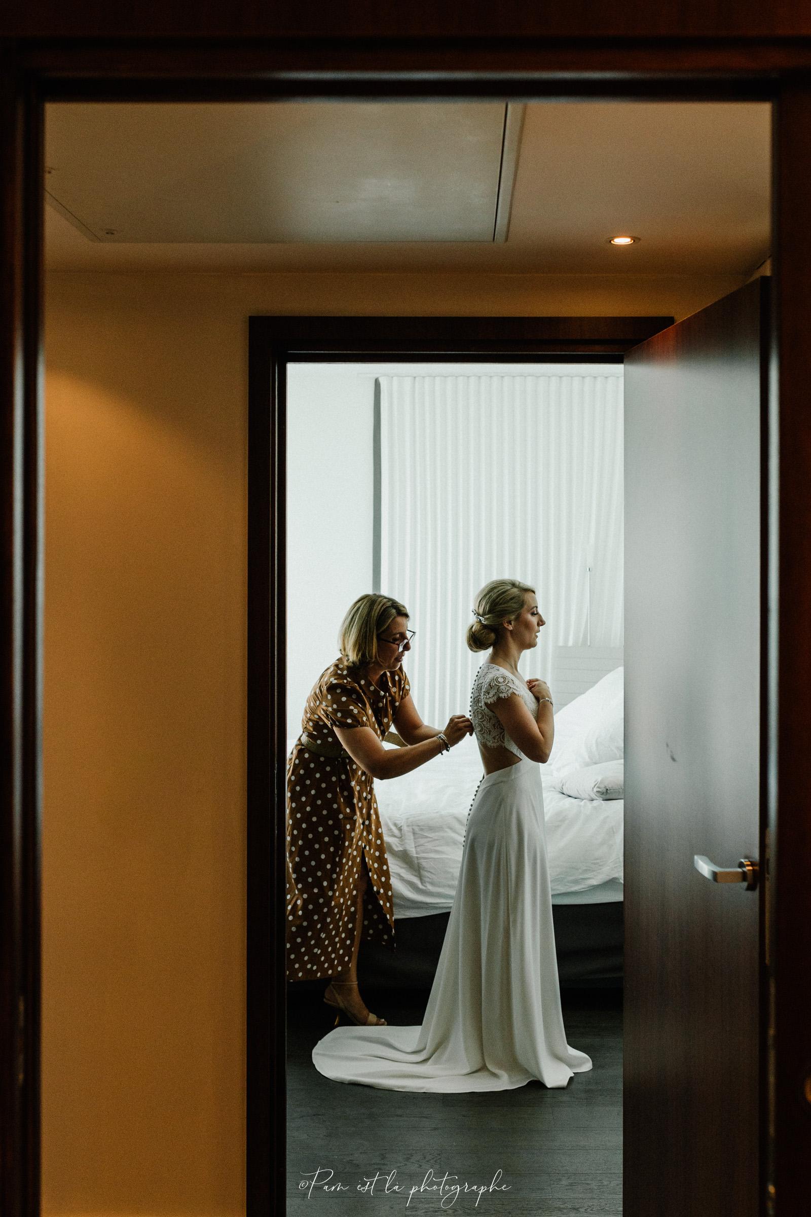 Préparatifs de mariage à l'hôtel Molitor