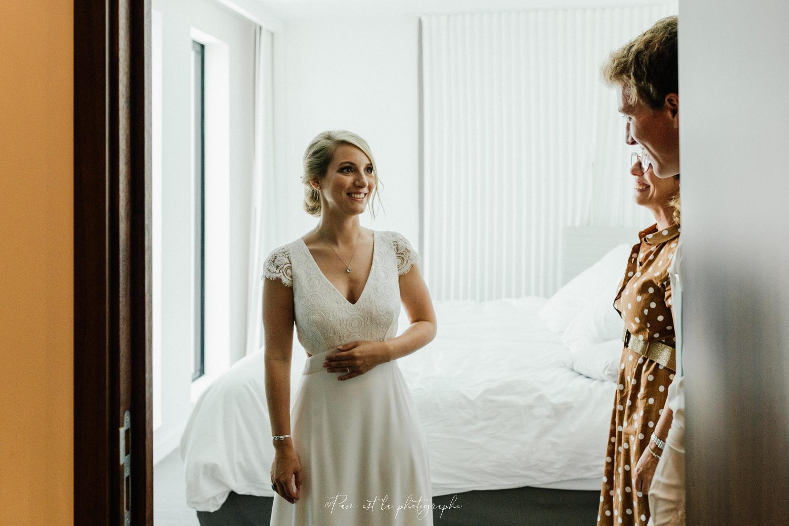 Préparatifs de la mariée à l'hôtel Molitor