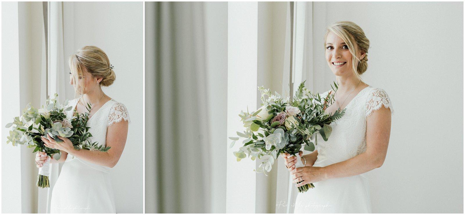 Portrait de la mariée à l'Hôtel Molitor