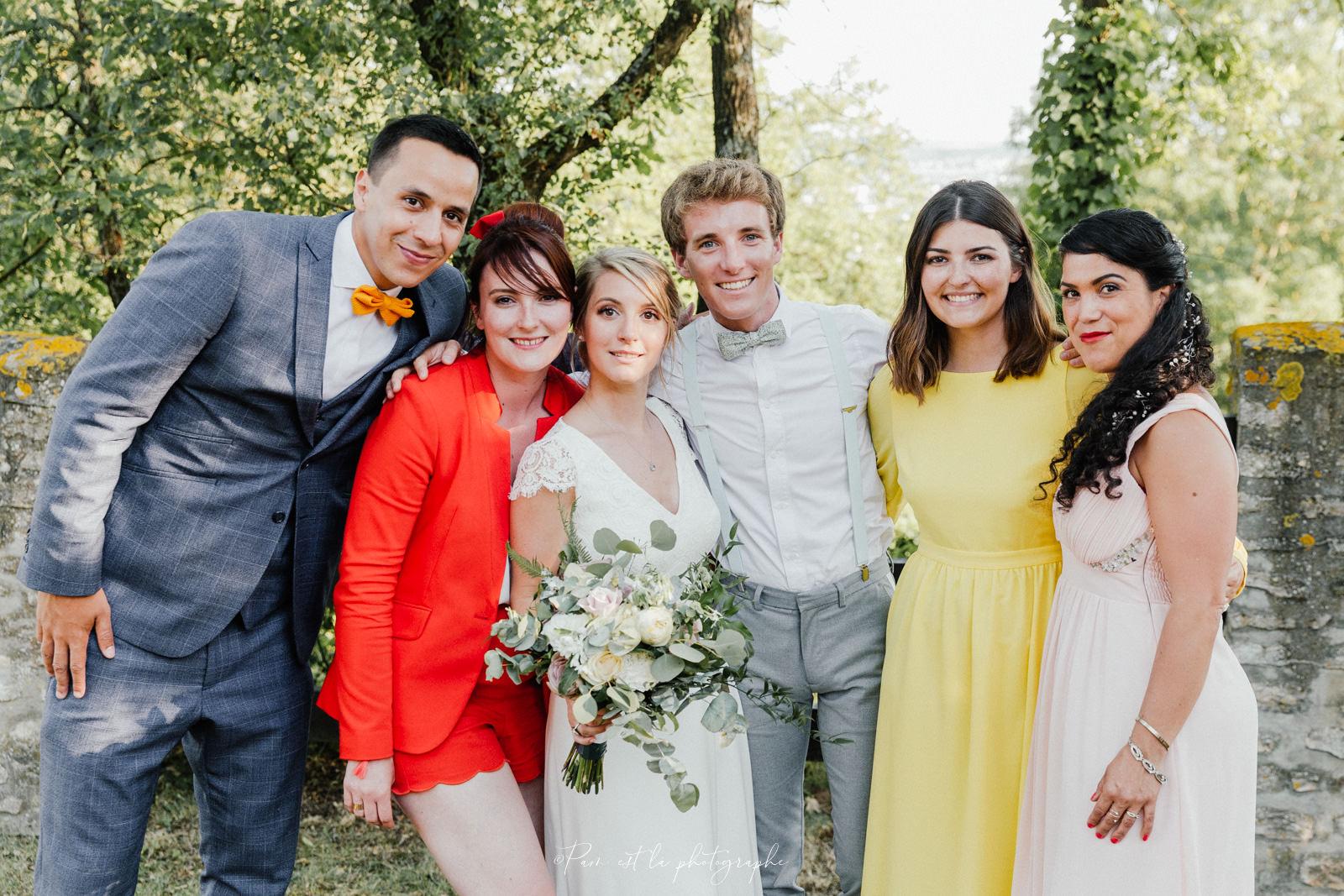 Photo de groupe de mariage