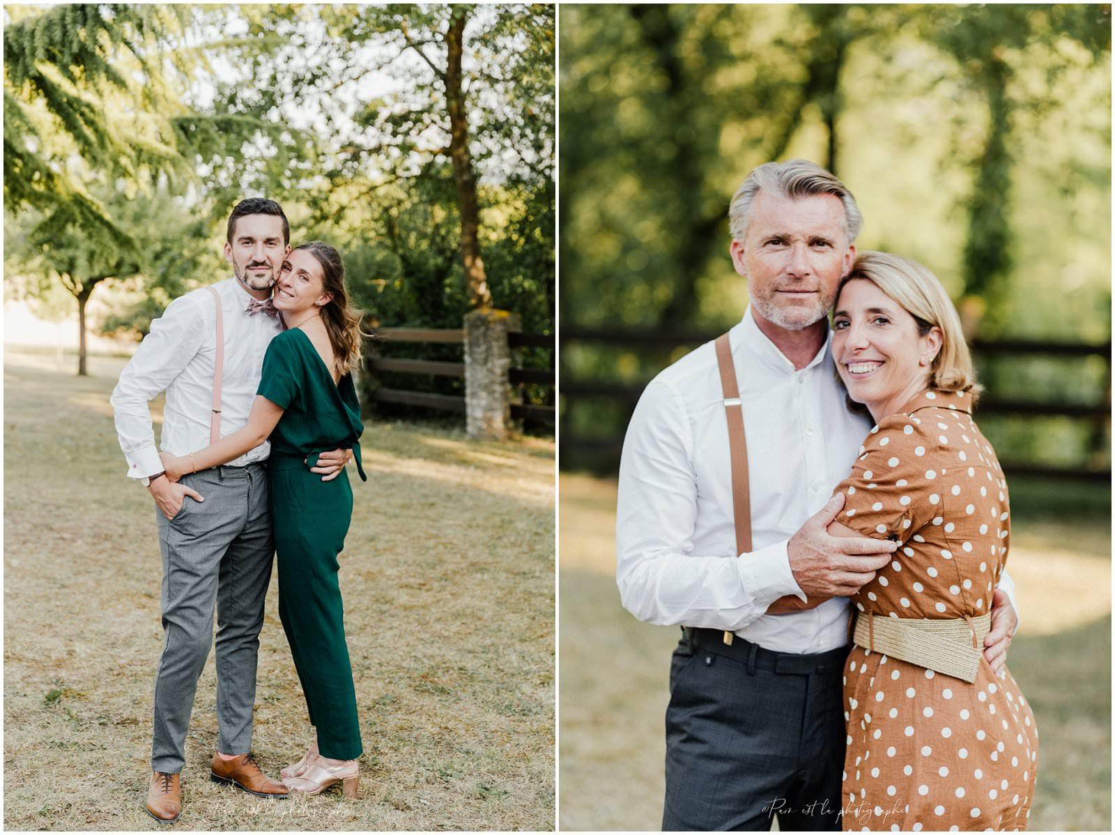 Portrait d'invités de mariage